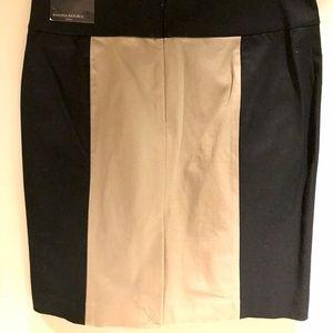 Banana Republic Black & Beige Pencil Skirt