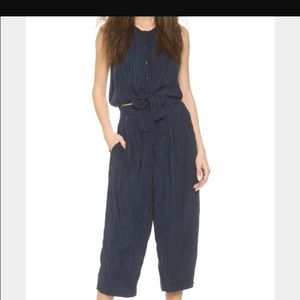 Club Monaco silk navy jumpsuit