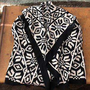 Patterned Cardigan Coat