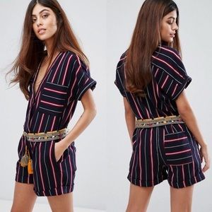 French Connection Hasan Stitch Romper