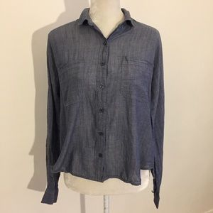 BDG blue chambray Button Up loose fit shirt