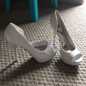 White Charlotte Russe High Heels
