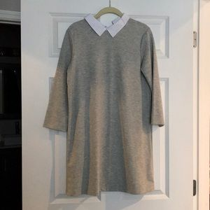 ZARA gray dress with white collar - SIZE SMALL