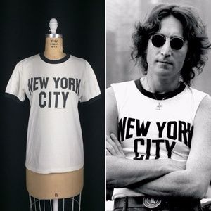 Vintage New York City Ringer T-Shirt John Lennon