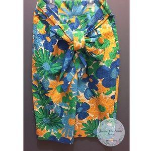 J.Crew Pin-tucked Morning Floral Midi Skirt NWT
