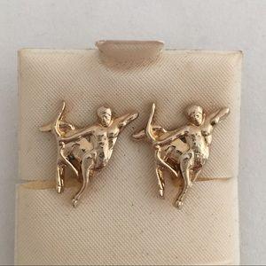Vintage Sagittarius Clip Earrings Zodiac