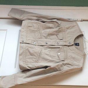 Khaki Gap jean jacket