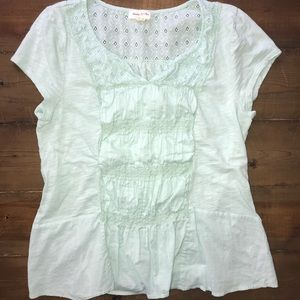 Anthropologie Meadow Rue Cuyama Tee in Mint Green