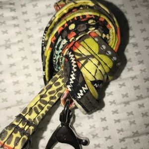 Vera Bradley zipper id pouch with matching lanyard