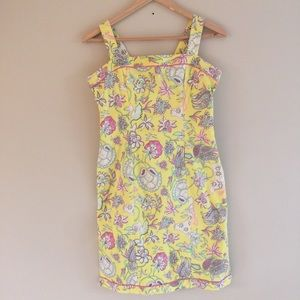 Tibi Yellow Floral Shift Dress