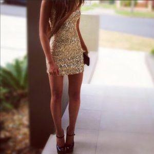 ✨ Sparkle & Fade Champagne Sequin Dress