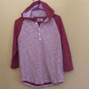 Men's EXPRESS polo Hoody Shirt size Medium