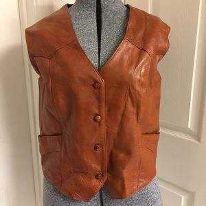 VINTAGE Tony Lama leather vest
