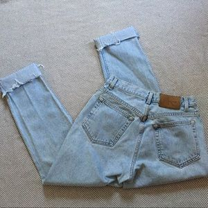 Vintage CK light wash distressed mom jeans