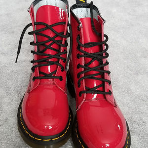 Red Patent Leather Dr. Martens