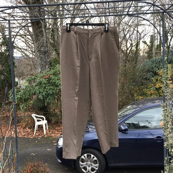 834012ef Briggs Petite Pants | Womens Pleated Brown Dress 14p | Poshmark
