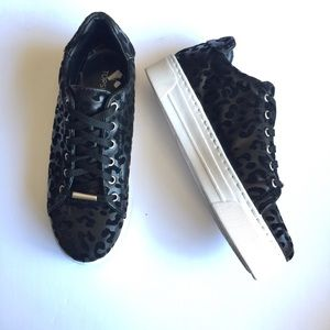 TOPSHOP COMMANDER Leopard Trainers Sneakers