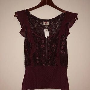 Free People Laced Top