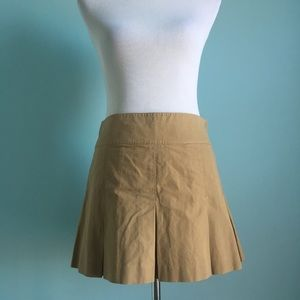 NWT Ralph Lauren Khaki Pleated Mini Skirt
