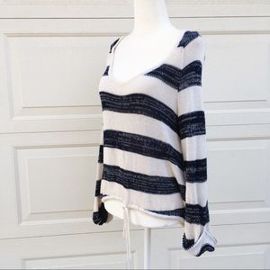 Anthro Dolce Vita Woven Striped Scoop Neck Sweater