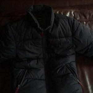 Gap kids navy winter puff coat L like new
