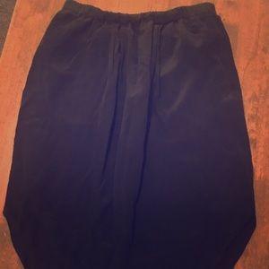 Madewell black a-line skirt women's size small