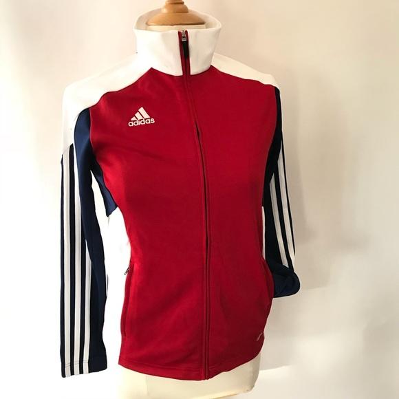 red adidas track jacket