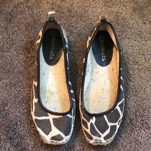 Nordstrom Coconuts Zoey zebra print sz 8 shoes
