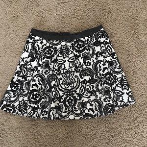Forever 21 Velvet Skater Skirt