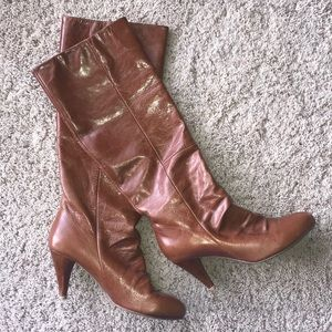 Jeffrey Campbell knee-high brown boots