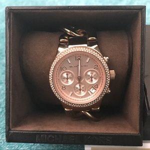Michael Kors Chronograph Gold Ladies Watch
