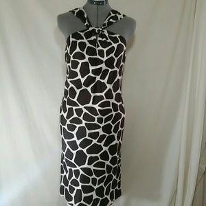 BANANA REPUBLIC Brown and White Halter Top Dress
