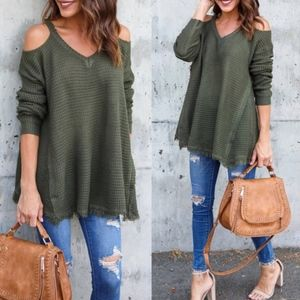 ELYSE Knit Sweater - OLIVE