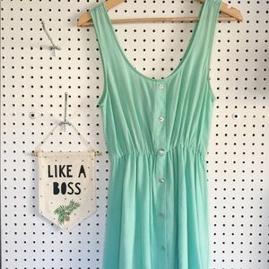Nasty Gal Aqua Dress | Size Small | Excellent Cond