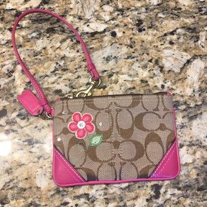 Auth Coach Wristlet with 🌸
