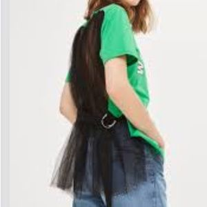 TOPSHOP Tulle T-Shirt