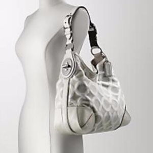 Coach White Canvas Hobo