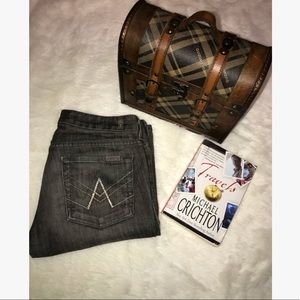 7 For All Mankind A Pocket Flare Jeans (Size 28)