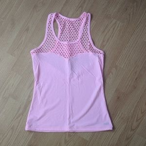 Lorna jane pink mesh top