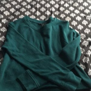 Dark green crop top long sleeve