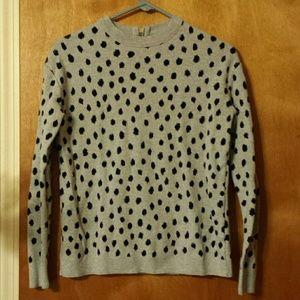 NWOT H&M 100% Cotton Cheetah Sweater