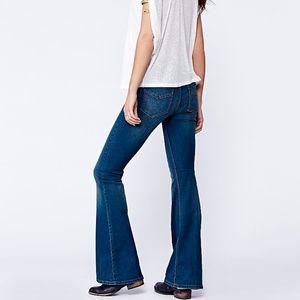 Free People Pull-on Kick Flare Jeans