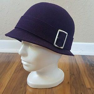 Banana Republic Bucket Hat Wool Deep purple