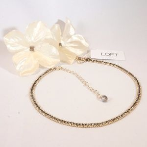 NEW LOFT Rhinestone Embedded Adjustable Choker
