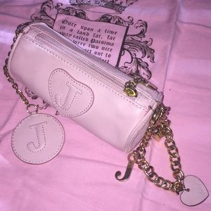JUICY COUTURE Tootsie Roll Charm Bracelet Wristlet