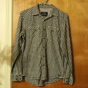 AEO Favorite Fit 100% Cotton Snap Button-Up