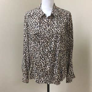 Jones New York Sport Animal Print Blouse