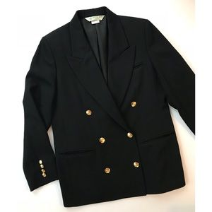 Vintage Austin Reed Black Double Breasted Blazer