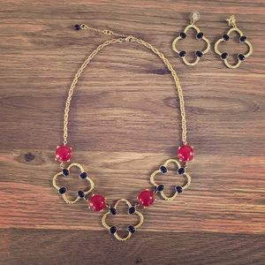 Banana Republic statement necklace and earring set