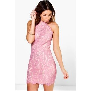 🌸Pink lace bodycon dress🌸